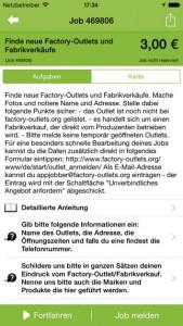 A screenshot of the AppJobber app