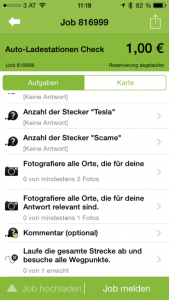 Fourth screenshot of the AppJobber user journey