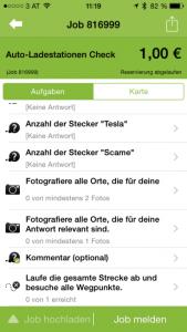 Fourth screenshot of the AppJobber user journey