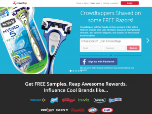 A screenshot of the Crowdtap website