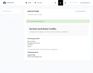 A screenshot of the WorkHub website